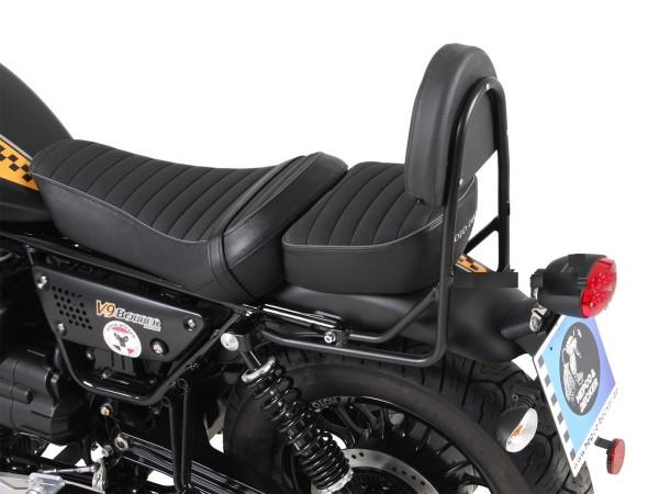 Sissy bar without luggage rack black for V 9 Bobber (Bj.17-) model with long seat