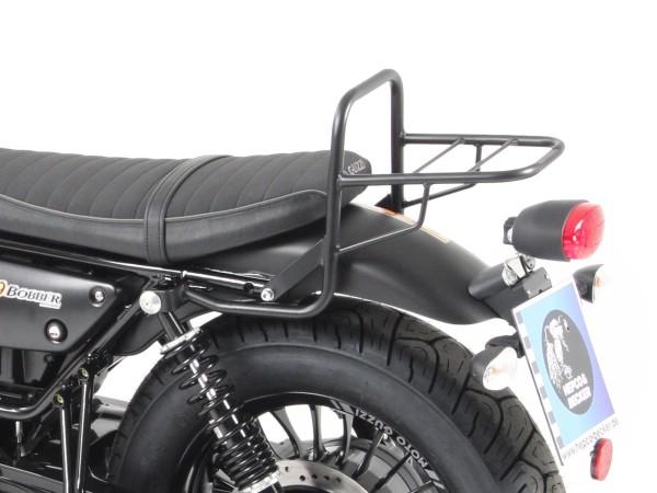 Tube luggage rack top case carrier black for V 9 Bobber (Bj.16-) model with short seat