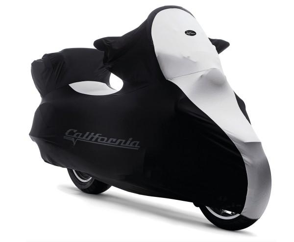 Original indoor folding garage, Moto Guzzi California, black, white