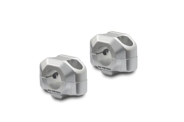 Handlebar riser 15 mm silver for for Moto Guzzi V7 III (16-) SW Motech