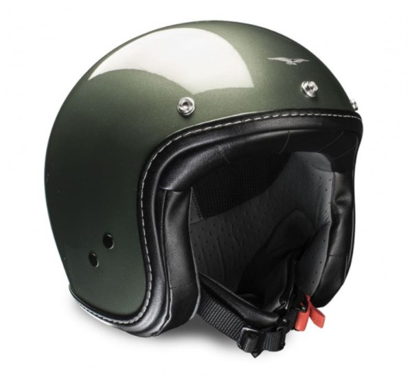 Moto Guzzi jet helmet Engine moss green