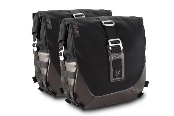 Legend Gear side bag system LC Black Edition for Moto Guzzi V9 Roamer / Bobber SW Motech