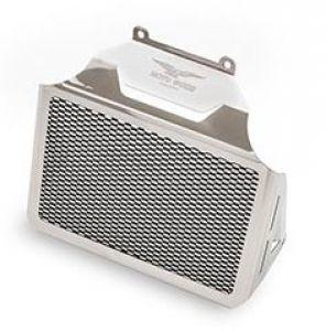 Original oil cooler cover, aluminum, silver for Moto Guzzi Eldorado / California