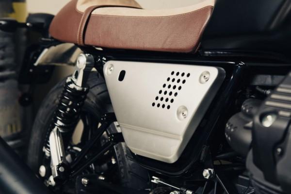 Aluminum side cover set silver Moto Guzzi V7 III / V9 Bobber / Roamer