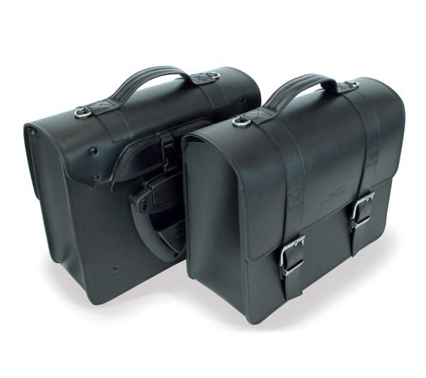 Side bag, black for Moto Guzzi V7 III / V9 Bobber / Roamer / Audace