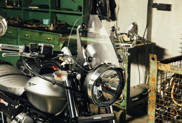 Headlight frame, chrome for Moto Guzzi V7 III / V9 Bobber / V9 Roamer