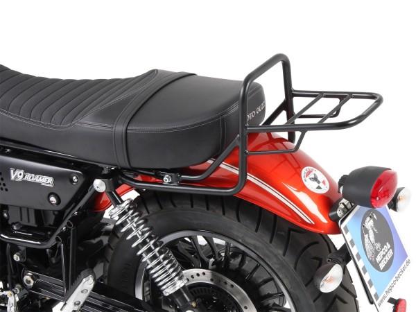 Tubular luggage rack top case carrier chrome for V 9 Bobber (Bj.17-) model with long seat