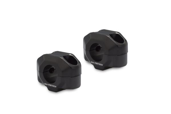 Handlebar riser 15 mm black for for Moto Guzzi V7 III (16-) SW Motech