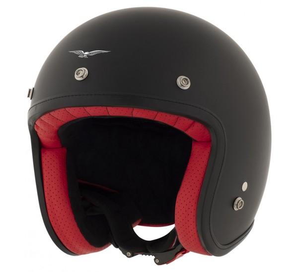 Moto Guzzi jet helmet, The Clan, black, matt